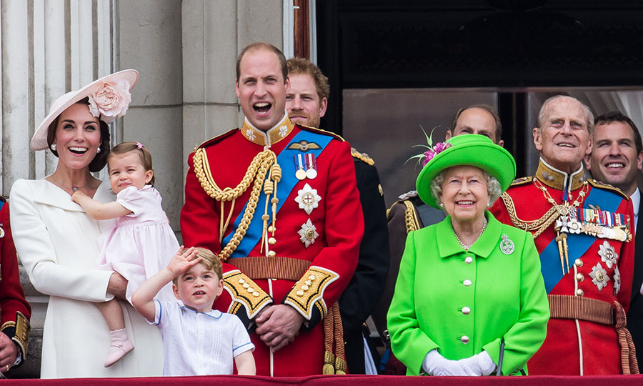 There was no missing <a href=/tags/0/queen-elizabeth-ii><strong>Her Majesty</strong></a> on the balcony of Buckingham Palace during Trooping the Colour on June 11, 2016. She stunned in a fluorescent green coat and matching hat. We love the bold fashion statement!