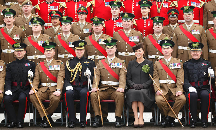And they posed for a regimental photograph.