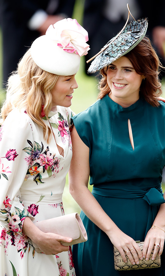 We loved seeing Eugenie and <strong><a href=/tags/0/autumn-phillips>Autumn Phillips</a></strong> having a chat at <strong><a href=/tags/0/royal-ascot>Royal Ascot</a></strong> in 2019! They're great friends.