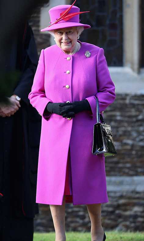 There was no missing <a href=/tags/0/queen-elizabeth-ii><strong>the Queen</strong></a> in her striking pink ensemble when she attended Christmas Day church service in 2014 at Sandringham. Her Majesty added even more colour to her outfit with a red feather on her hat!