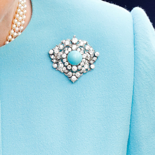 <h2>Queen Mary's Turquoise and Diamond Brooch</h2>