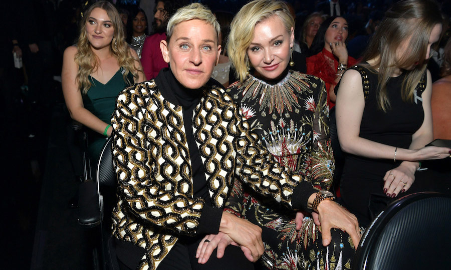 <h2>Ellen DeGeneres and Portia de Rossi</h2>