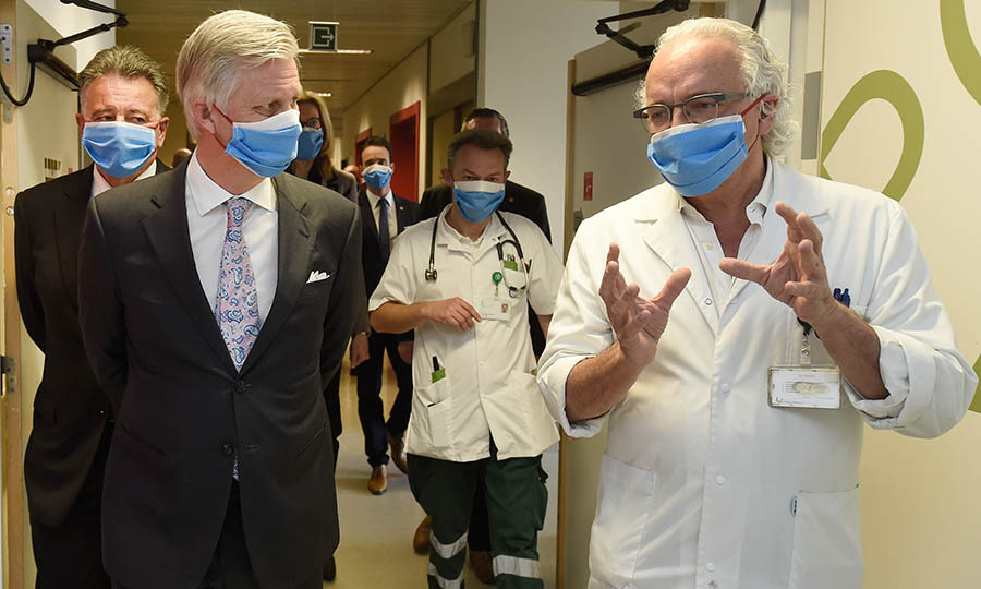 <a href=/tags/0/king-philippe><strong>King Philippe</strong></a> of Belgium visited the extended COVID-19 unit at the UZ Brussel (University Hospital Brussels) in Brussels on April 8.