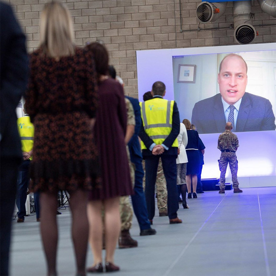 <a href=/tags/0/prince-william><strong>Prince William</strong></a> opened the new NHS Nightingale Hospital in Birmingham via video link on April 16.
