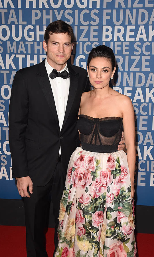 <h2>Ashton Kutcher and Mila Kunis</h2>