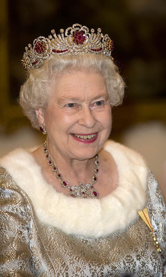 Her Majesty was a marvellous sight at a state banquet at Brdo Castle during her state visit to Slovenia with Prince Philip in 2008.