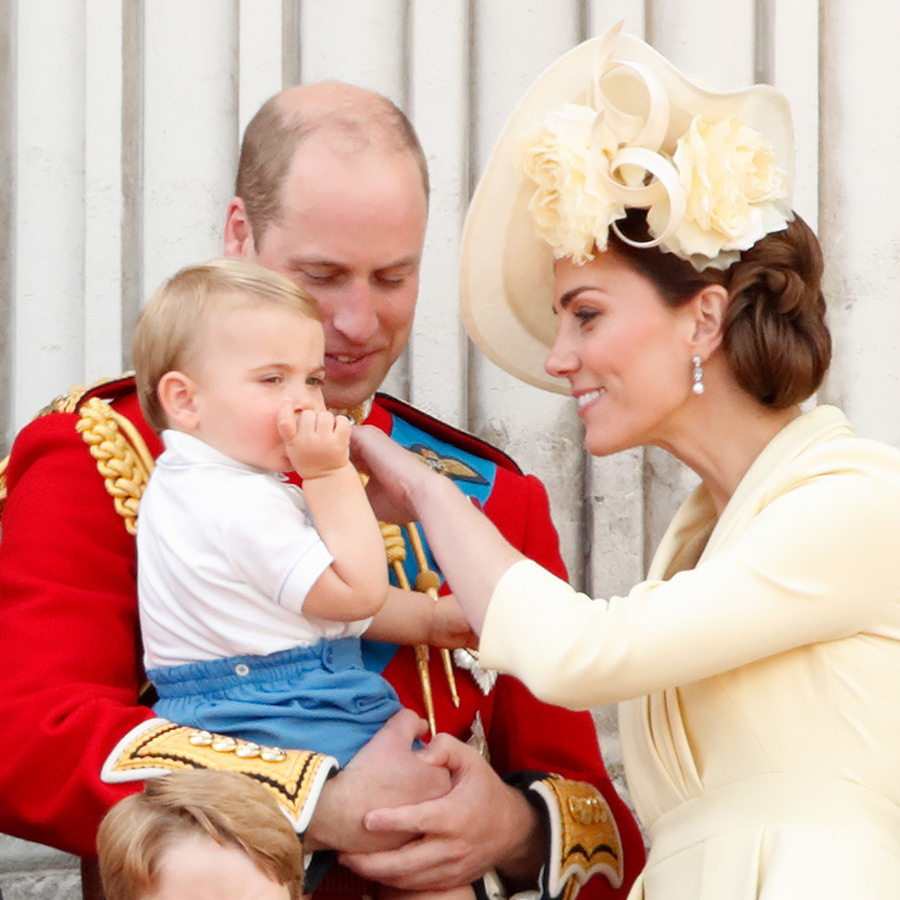 Little Louis also couldn't stop sucking his thumb then, and Kate was really trying to get him to quit! 