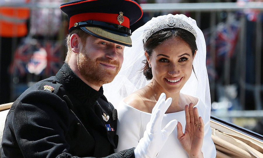 The duchess's Givenchy wedding dress and veil were complemented by coordinating white duchess satin heels.