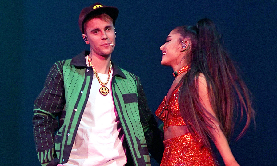 <h2>Justin Bieber and Ariana Grande</h2>