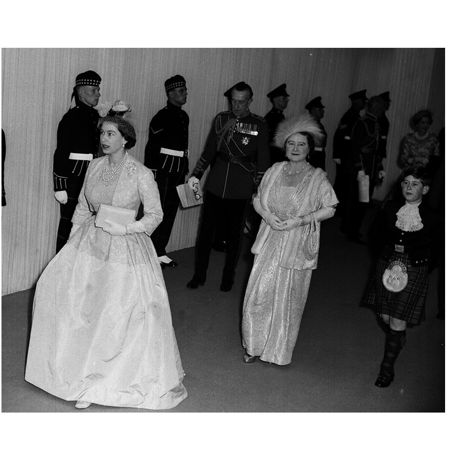 Understandably, the guest list featured a number of royals, including Margaret's family. Here, The Queen, followed by the <a href=/tags/0/queen-mother><strong>Queen Mother</strong></a> and a young <a href=/tags/0/prince-charles><strong>Prince Charles</strong></a> arrive at Westminster Abbey for the wedding ceremony.