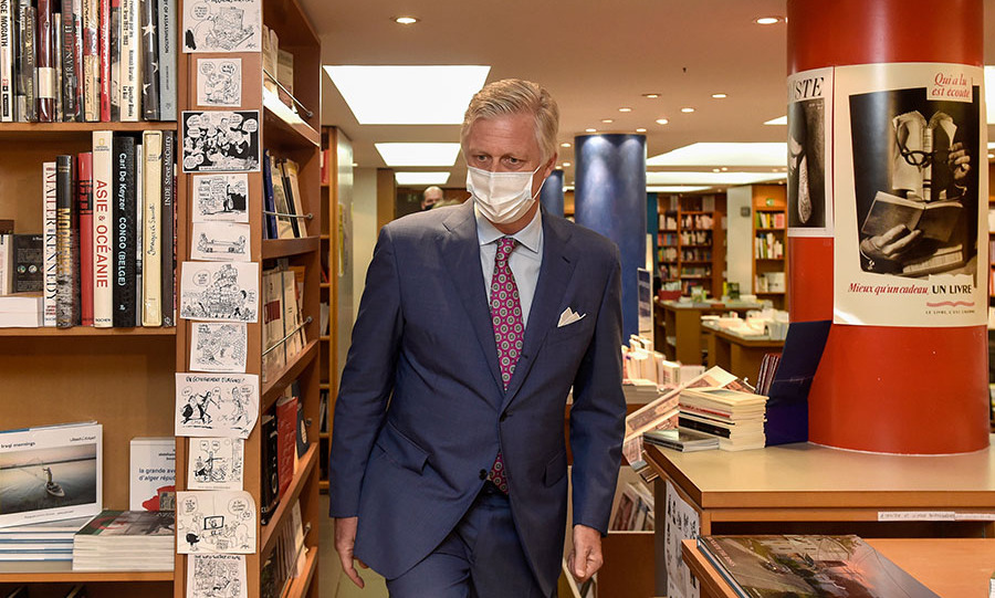 On May 10, the day before Belgium's official reopening, <a href=/tags/0/king-philippe><strong>King Philippe</strong></a> visited a few newly reopened family stores in Brussels which had previously been required to shut during the coronavirus lockdown. <p>The royal spoke with business owners about reopening under strict conditions and future prospects. <p>Photo: &copy; Didier Lebrun/Royal Belgium Pool/Getty Images