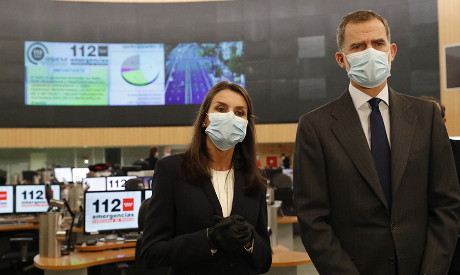 <a href=/tags/0/king-felipe><strong>King Felipe</strong></a> and <a href=/tags/0/queen-letizia><strong>Queen Letizia</strong></a> of Spain visited the 112 emergency centre on April 27 in Pozuelo de Alarcon.