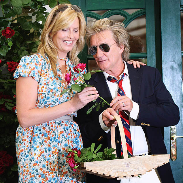 <h2>Penny Lancaster and Rod Stewart, 2009</h2>