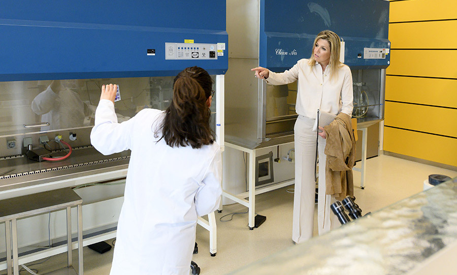 <a href=/tags/0/queen-maxima><strong>Queen Máxima</strong></a> stepped out in a refined neutral look on May 20 to visit the Department of Medical Microbiology of the Leiden University Medical Center, where they are conducting <a href=/tags/0/covid-19><strong>COVID-19</strong></a> research.