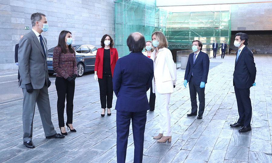 <a href=/tags/0/queen-letizia><strong>Queen Letizia</strong></a> and <a href=/tags/0/king-felipe><strong>King Felipe</strong></a> attended a meeting with the COTEC Foundation in Madrid on May 18.