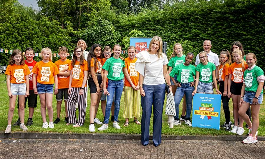 <p>Also on June 16, <a href=/tags/0/queen-maxima><strong>Queen Máxima</strong></a> of the Netherlands attended the signing of a music agreement for more music in the classroom for children in the Hoeksche Waard region in Puttershoek. 