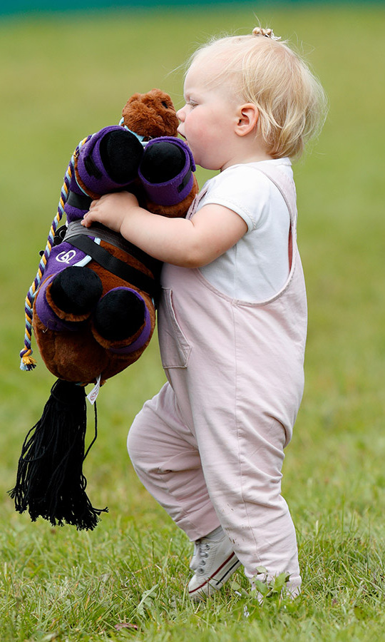 Lena already appeared to have inherited her family's passion for horses. She was photographed carrying a soft toy horse, which was a gift from the Pony Club, at the 2019 Festival of British Eventing at Gatcombe Park. Mom Zara is an equestrian, after all!
