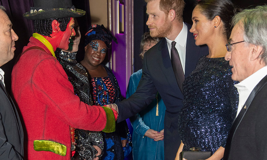 Harry and Meghan meeting the cast of Cirque du Soleil's Totem in London in 2019. Photo: © Paul Grover - WPA Pool/Getty Images