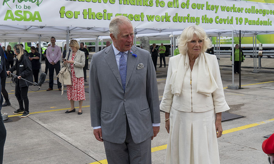 <a href=/tags/0/camilla-parker-bowles><strong>Duchess Camilla</strong></a> looked so chic in all cream as she joined <a href=/tags/0/prince-charles><strong>Prince Charles</strong></a> at an Asda distribution centre to thank staff for their work during the <a href=/tags/0/coronavirus><strong>coronavirus<strong></a> pandemic in Bristol on July 9.