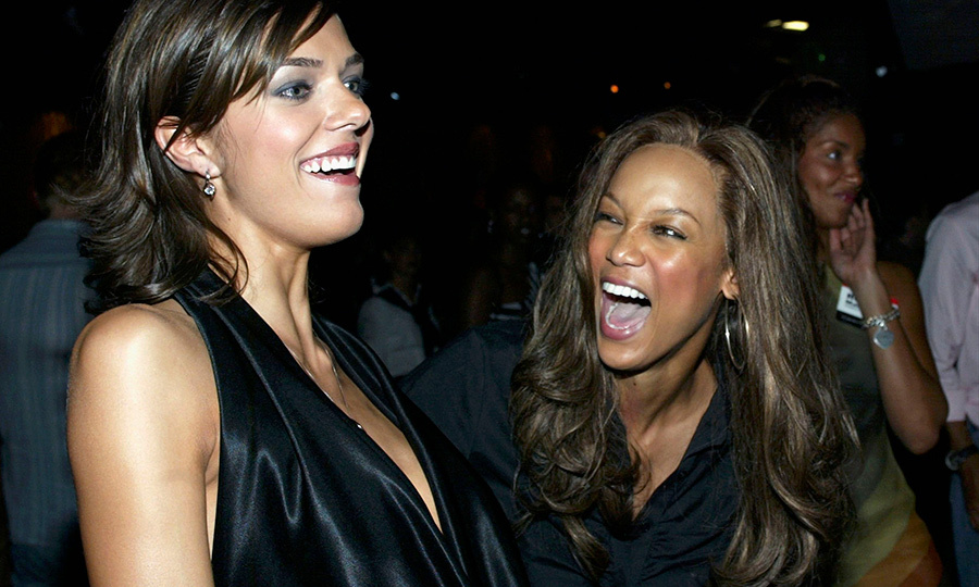 Tyra with Adrianne Curry, the first winner of America's Next Top Model, in 2003. Photo: © Frederick M. Brown/Getty Images