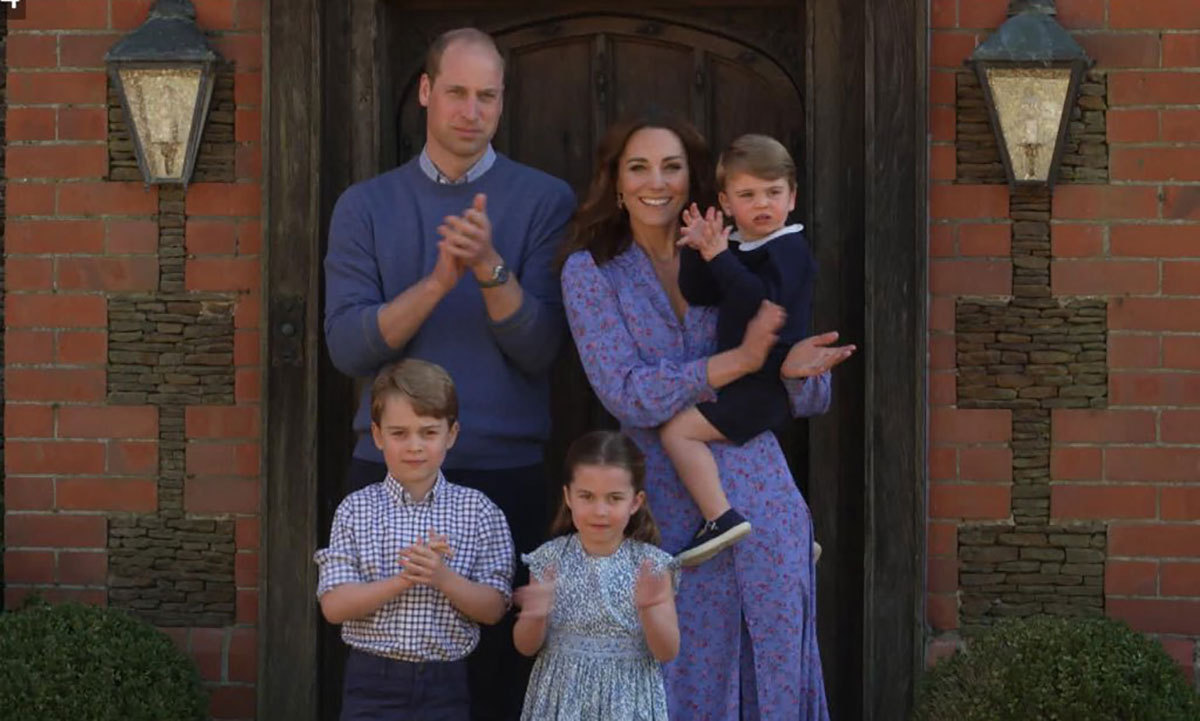 We next saw George in April, when he appeared with his family during a BBC comedy special honouring frontline workers during the <strong><a href=/tags/0/coronavirus>coronavirus</a></strong> lockdown. The Cambridges isolated at Anmer Hall during the pandemic, and George joined Charlotte, Louis, Kate and William for the weekly applause for frontline workers at 7 p.m. BST during the program.