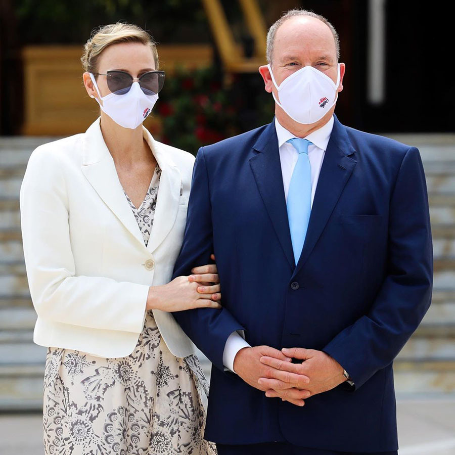 <h2>Prince Albert and Princess Charlene</h2>