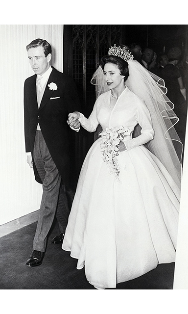 <p>Princess Margaret was breathtaking in a Norman Hartnell wedding gown when she married <a href=/tags/0/lord-snowdon><strong>Antony Armstrong-Jones</strong></a> in a beautiful ceremony at <a href=/tags/0/westminster-abbey><strong>Westminster Abbey</strong></a> in London on May 6, 1960.