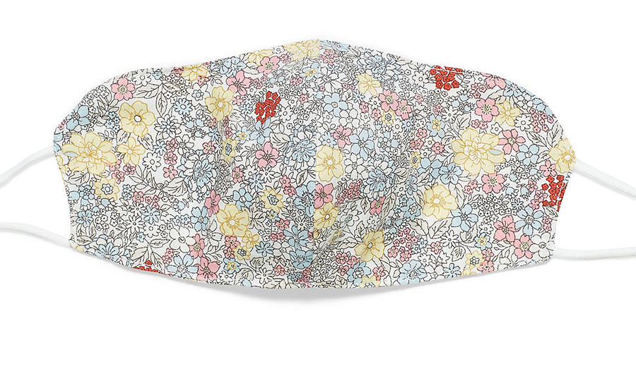This lovely floral design will add a fun pop to any outfit. The face covering is made from two layers of 100 per cent cotton weave fabric and is available in two other striking floral prints.