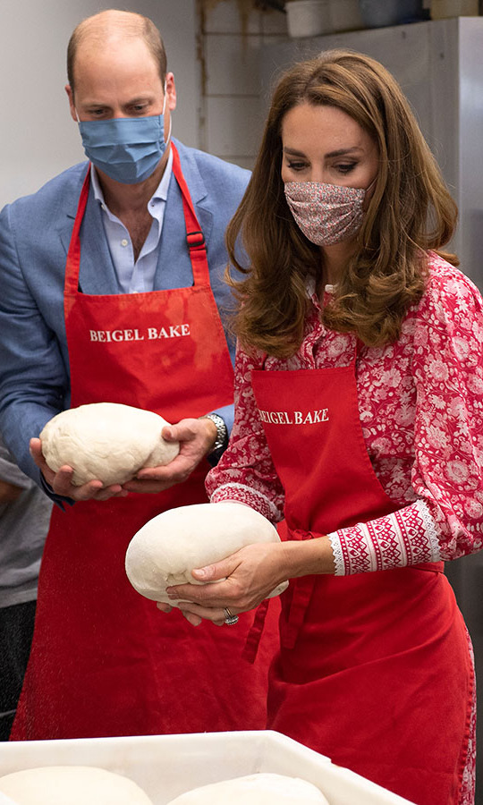 After the pair kneeded their dough in the kitchen, they placed the dough balls to prove in a large container.
