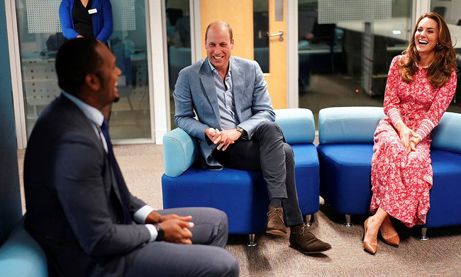 William and Kate had a laugh during a chat with employers.