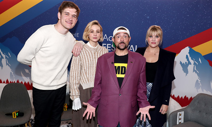 (L-R) Bo Burnham, Carey Mulligan, Kevin Smith and Emerald Fennell at the 2020 Sundance Film Festival on Jan. 25, 2020 in Park City, Utah. Photo: © Rich Polk/Getty Images for IMDb