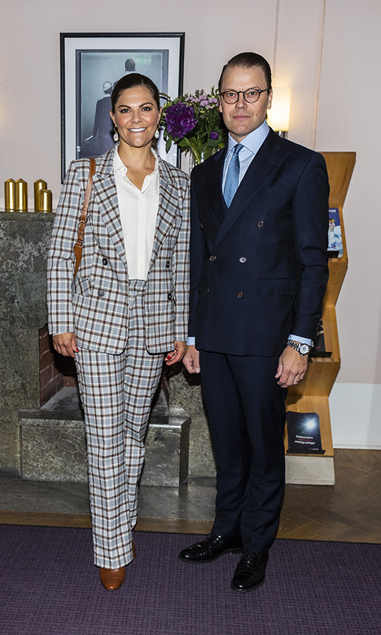 <a href=/tags/0/crown-princess-victoria><strong>Crown Princess Victoria</strong></a> and <a href=/tags/0/prince-daniel><strong>Prince Daniel</strong></a> showed off their sharp suits on Sept. 10 at the Swedish Performing Arts Association in Stockholm. 