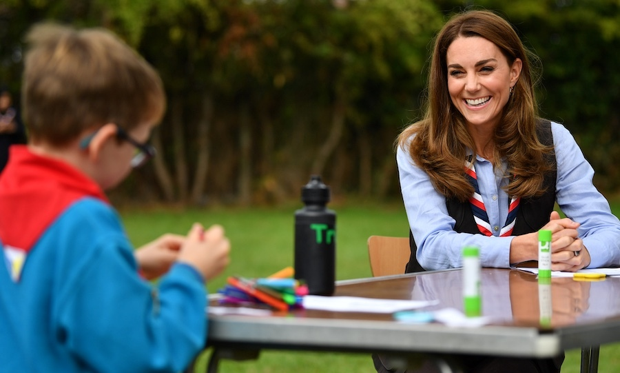 Kate took some time to chat with some Beavers at the event, and made arts and crafts with them. 