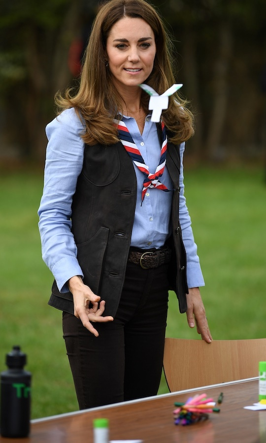 Success! Kate's craft took flight as she tossed it into the air. 