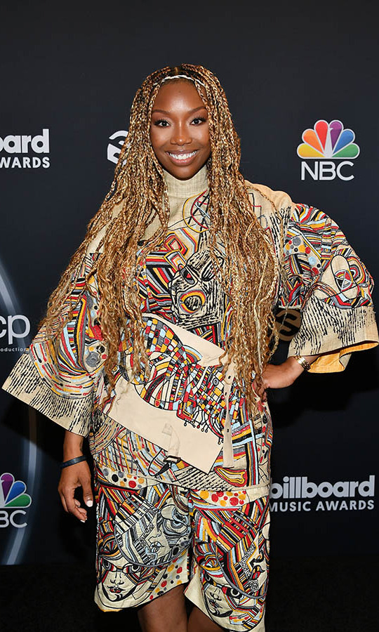 <a href=/tags/0/brandy><strong>Brandy</strong></a> put on a colourful display with her fun ensemble.