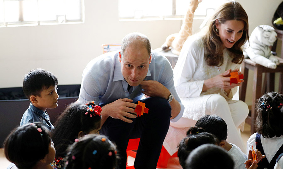 William and Kate interacted with the children at SOS Children's village during their royal tour of Pakistan on Oct. 17, 2019 in Lahore, Pakistan. Photo: © Peter Nicholls - Pool/Getty Images