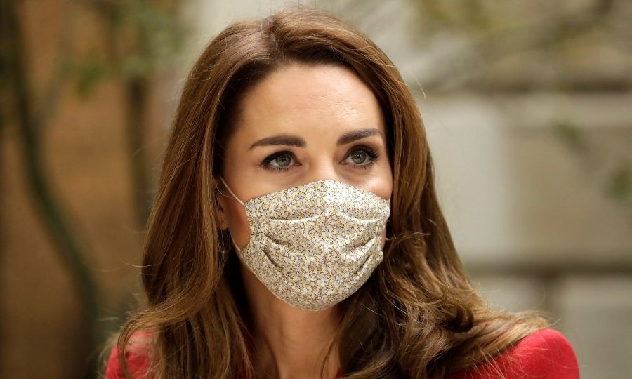 Kate also wore her Amaia Kids face mask, which we've seen her wear quite frequently during the pandemic.