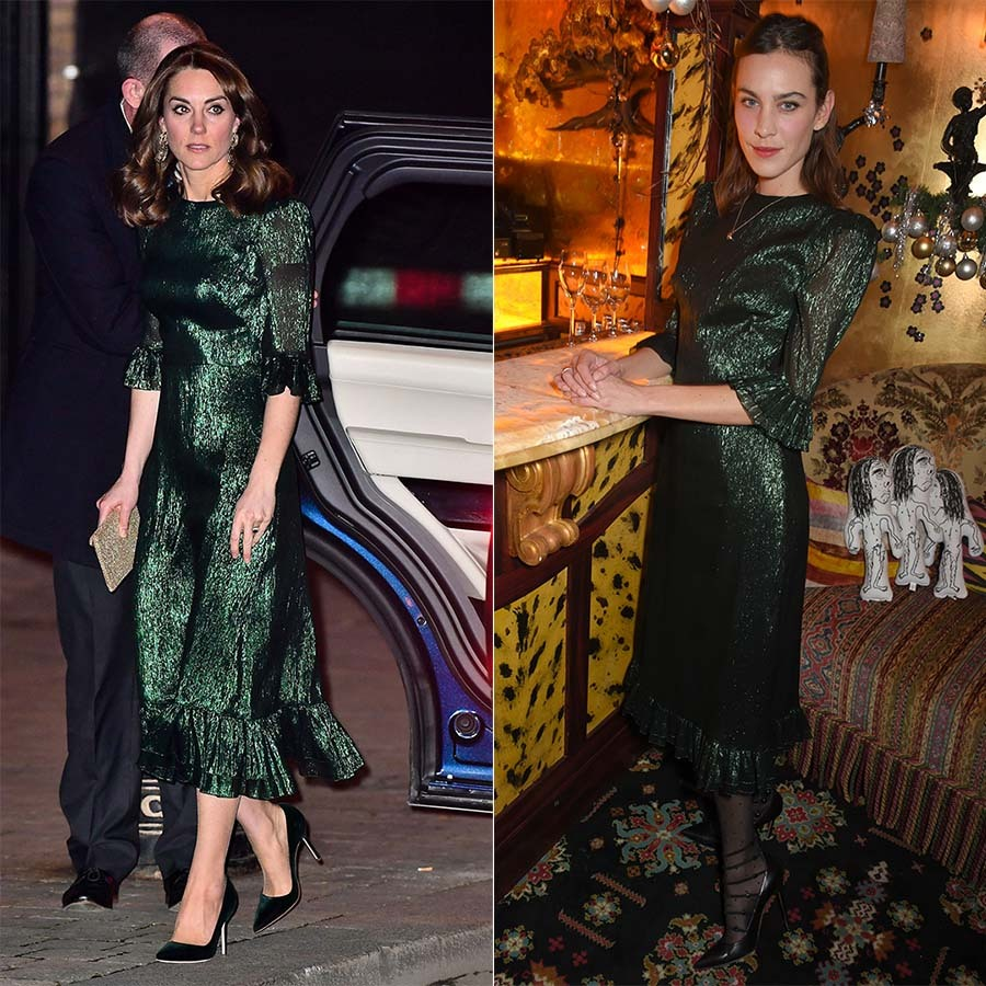<a href=/tags/0/kate-middleton><strong>Kate Middleton</strong></a> dazzled in the Falconetti Emerald Metallic Silk Dress from <a href=/tags/0/the-vampires-wife><strong>The Vampire's Wife</strong></a> in Dublin during her and <a href=/tags/0/prince-william><strong>Prince William</strong></a>'s royal tour of Ireland in March 2020.