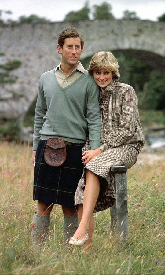 <h2>The newlyweds in Scotland, 1981</h2>