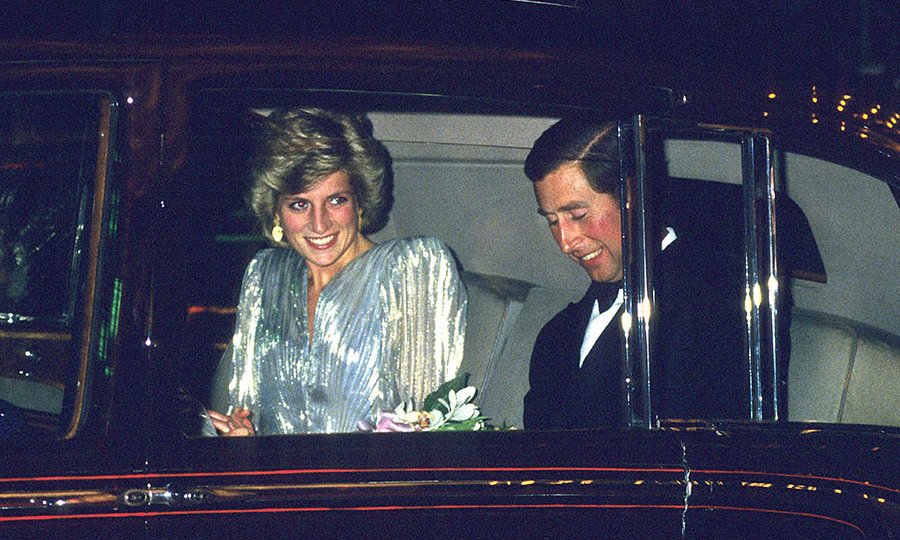<h2>Charles and Diana at a James Bond premiere, 1985</h2>