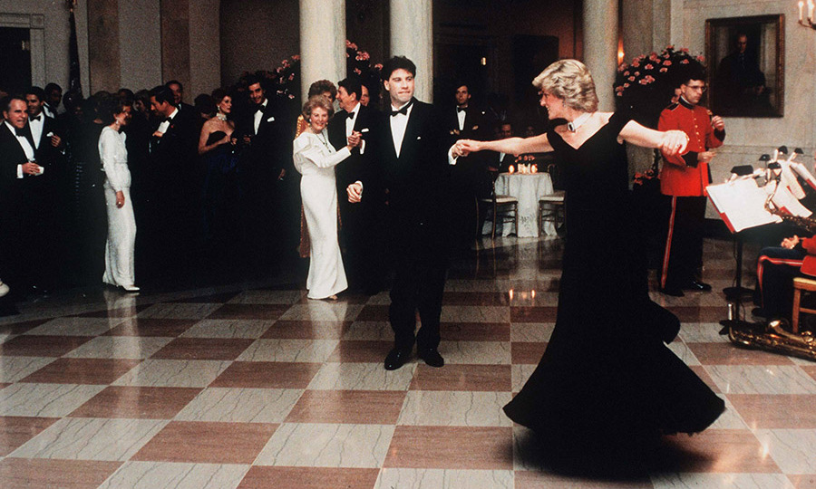 <h2>Diana dancing with John Travolta, 1985</h2>