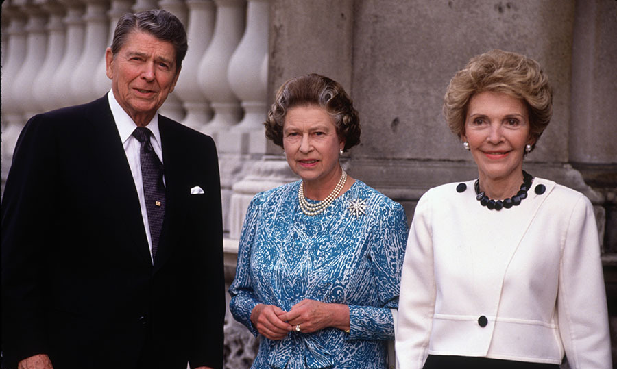 <h2>The Reagans at Buckingham Palace, 1989</h2>