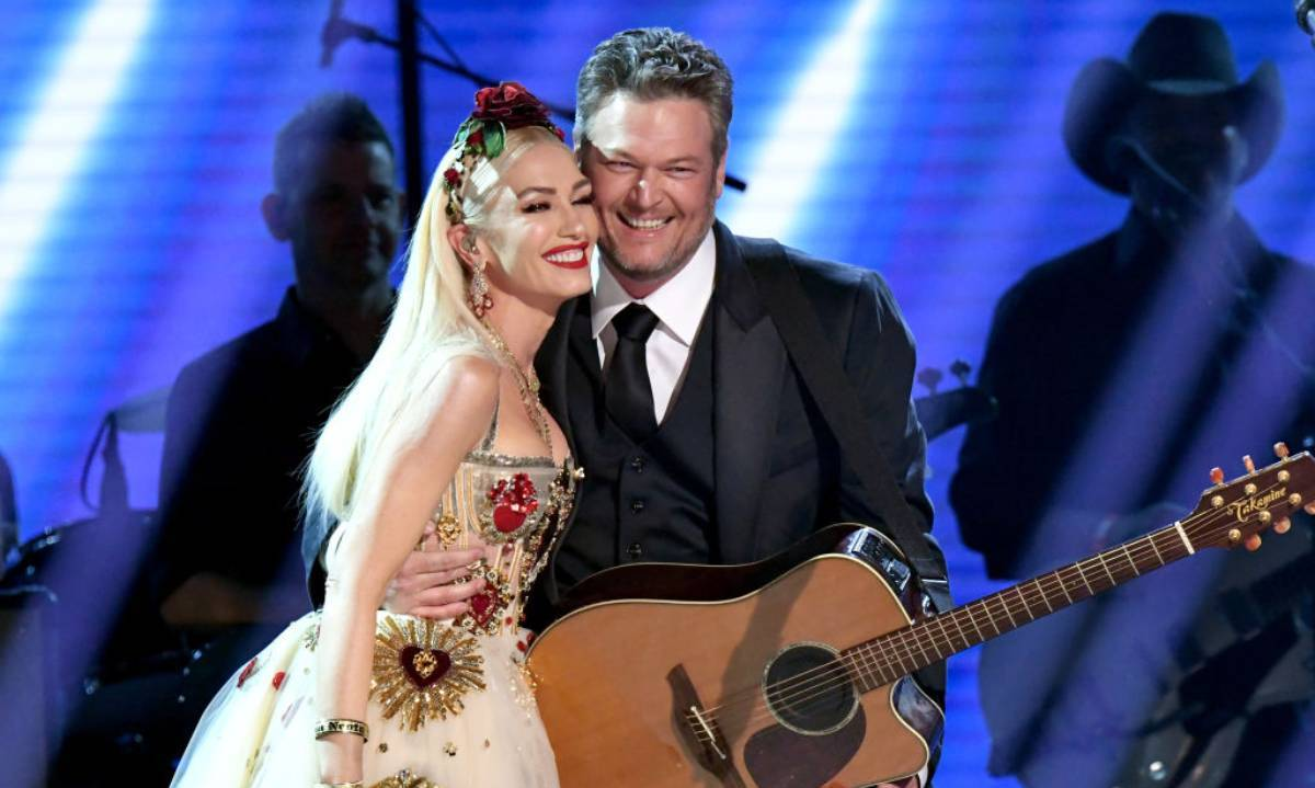 <h2>Gwen Stefani and Blake Shelton</h2>