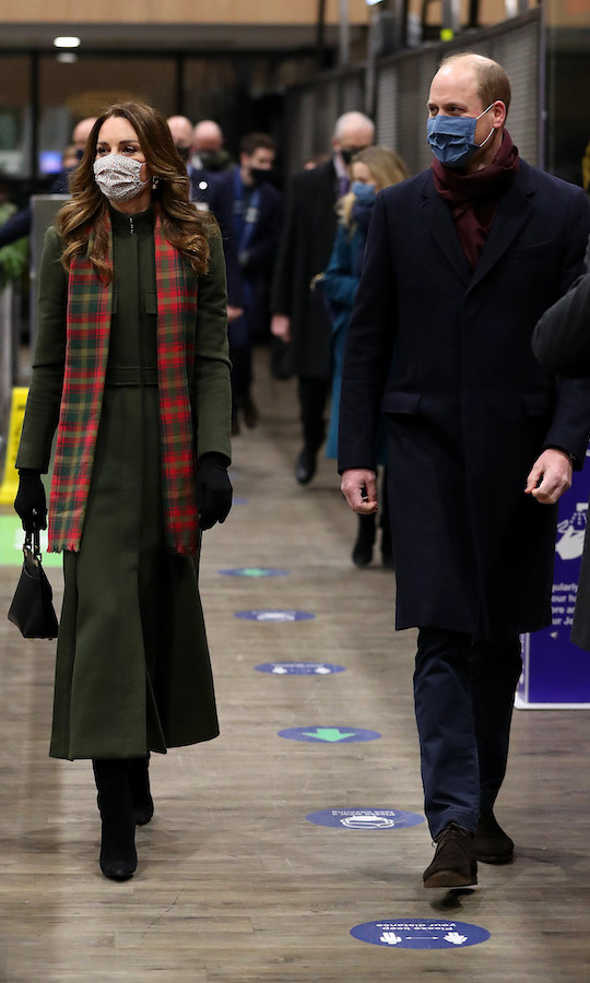 Kate and William arrived at London's Euston station late on Dec. 6 to begin their tour. 