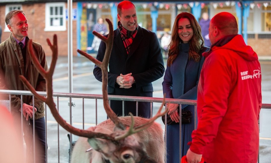 They also met a real reindeer – three of them, actually! The animals were named <strong>Chaz</strong>, <strong>Crackers</strong> and <strong>Echols</strong> and were there through Rent a Reindeer and the business' owner, <strong>George Richardson</strong>. 