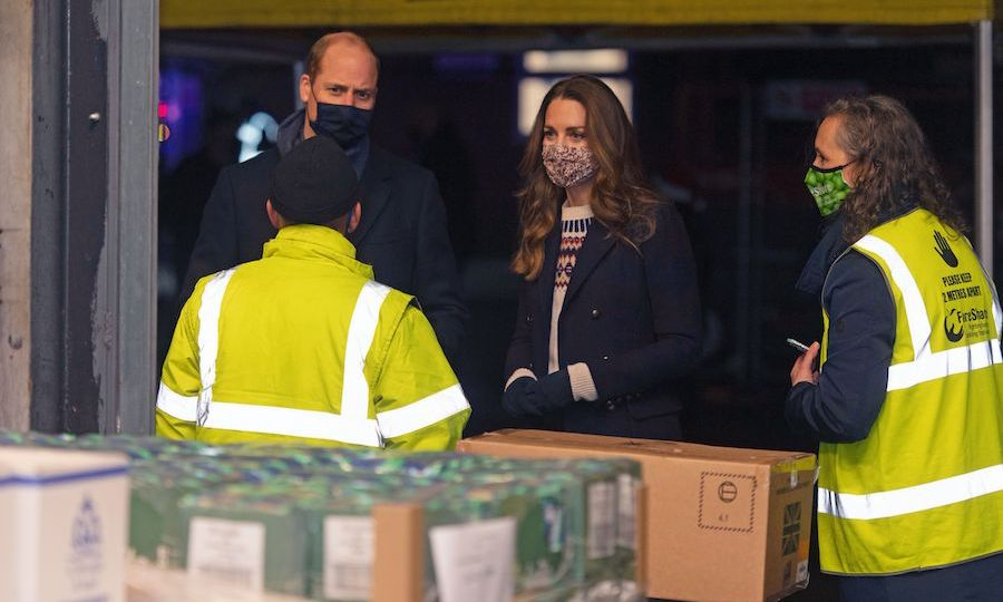 While there, the Cambridges met staff at the Old Smithfields Market FareShare food bank. The organization sends surplus food to charities and non-profit groups. Schools' breakfast clubs, community centres, homeless shelters and other organizations benefit from its work. It's been very needed during the coronavirus pandemic. 