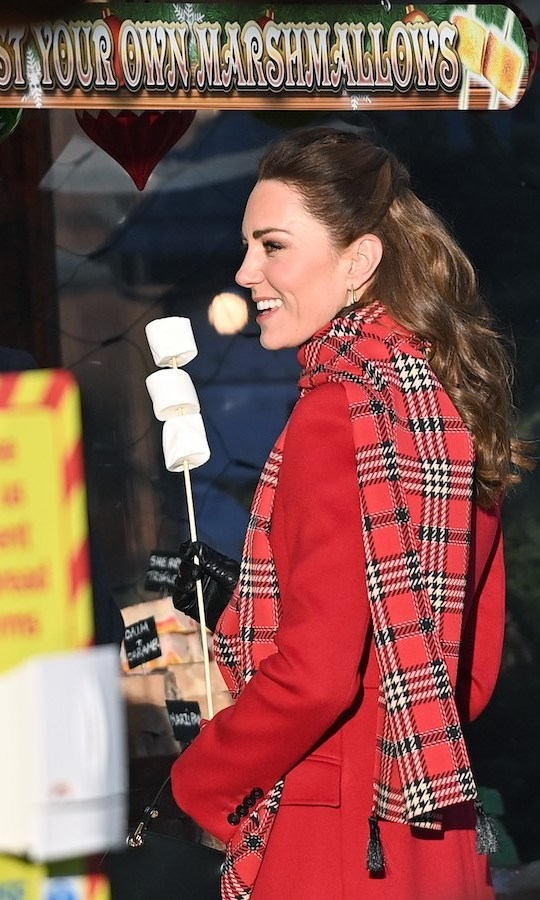 At one point, Kate accidentally touched a marshmallow with a hand that was in one of her gloves. 