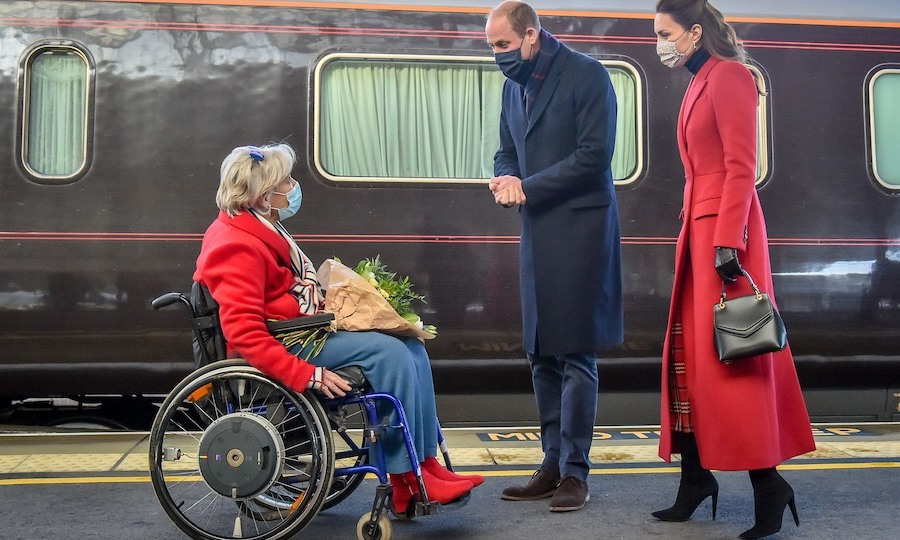 They also met Lord Lieutenant of Somerset <strong>Annie Maw</strong> at the station.