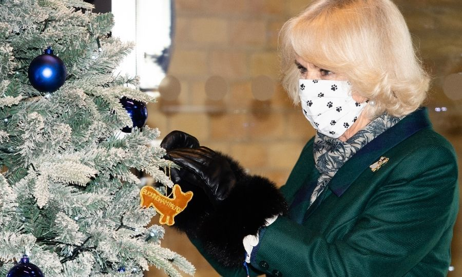 Before Camilla and Beth said goodbye for the day, the duchess helped hang a very appropriate corgi ornament on the centre's tree. 