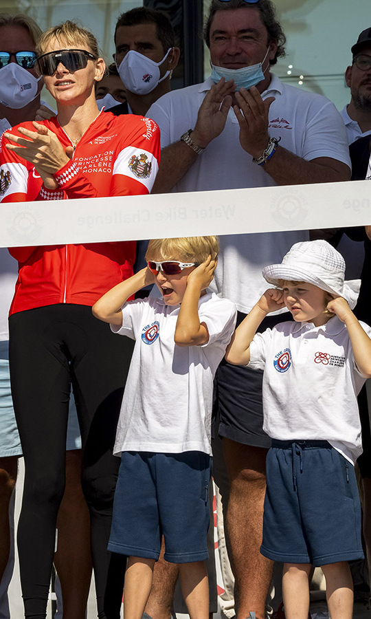 <h2>Princess Charlene, Prince Jacques and Princess Gabriella</h2>